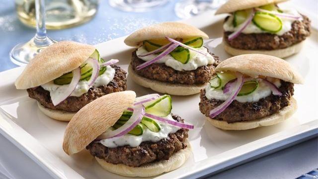Mini Greek Burgers. | Food & Drinks | Pinterest