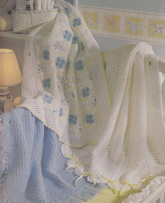 Free Online Crochet Baby Afghan Patterns : Pretty Baby Afghan Crochet Patterns - 5 Designs ...