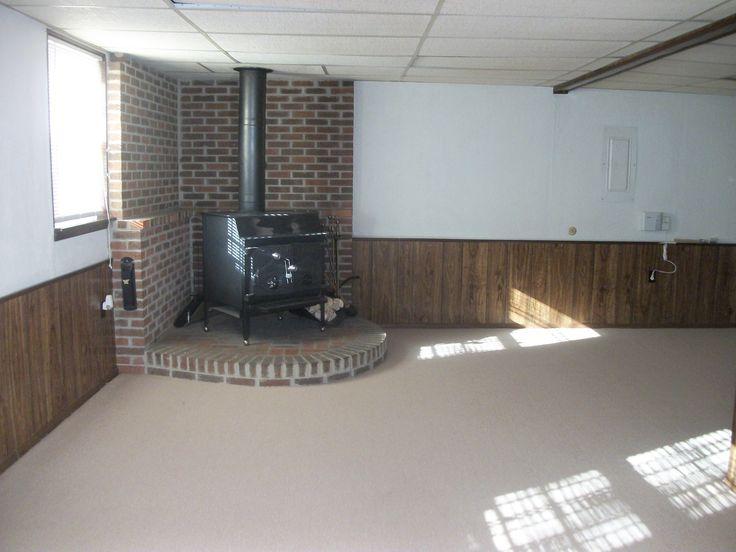 basement level w wood stove basement ideas pinterest
