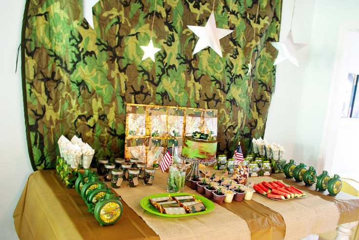 Decoration ideas army birthday party pinterest for Army party decoration ideas