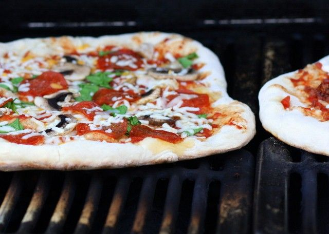 Pizza on the grill - good to know for summer when I'll be trying to ...