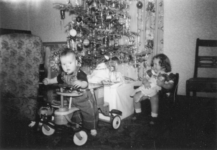 50's toddler's Christmas