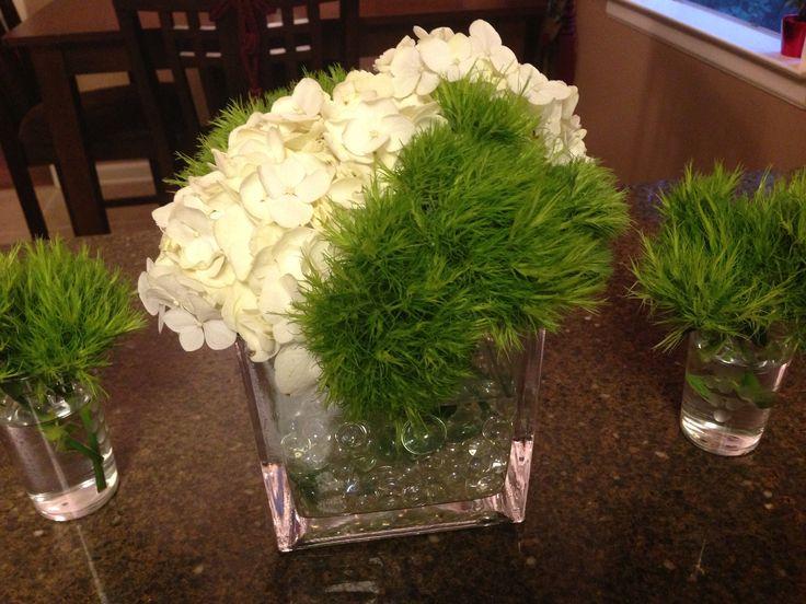 Hydrangeas and green spike flower arrangementSpike Flower Arrangement