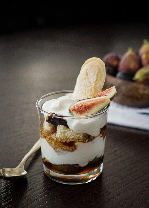 Honeyed Fig Trifle with Goat Cheese Mascarpone Yogurt Cream | www ...