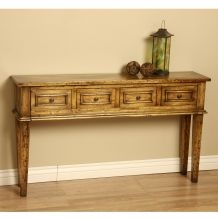Wood xandy console table indonesia for 12 deep console table