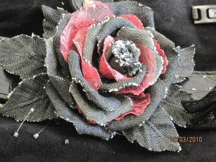 Розы из джинсовой ткани своими руками 38