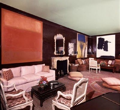 Lee Eastman apartment decorated by Billy Baldwin with art by Mark Rothko, de Kooning and Franz Kline