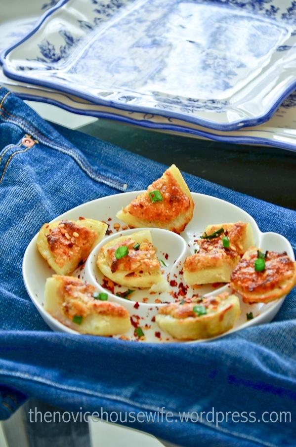 Roasted Potatoes stuffed with Masala Paneer Filling