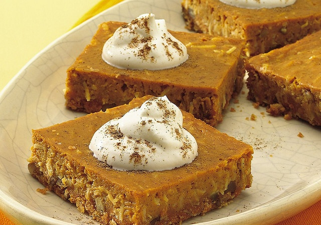 Pumpkin Pie Squares | Recipes to Try - Bar Cookies | Pinterest