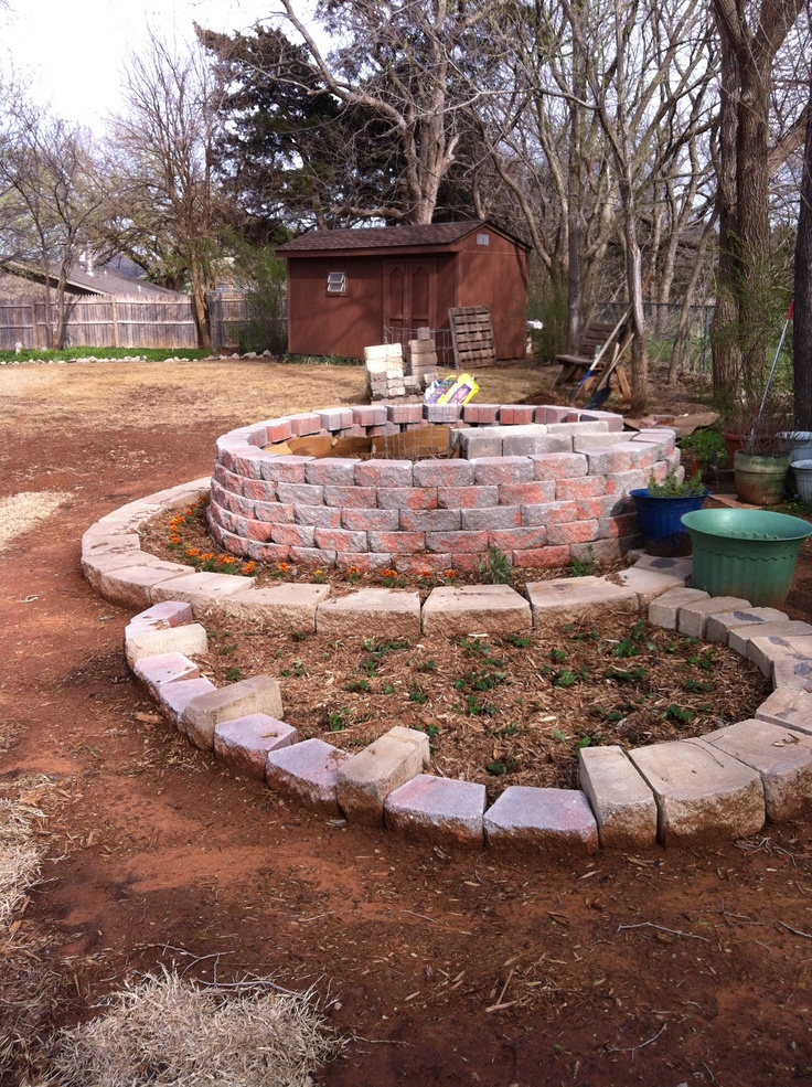 my keyhole garden garden ideas pinterest