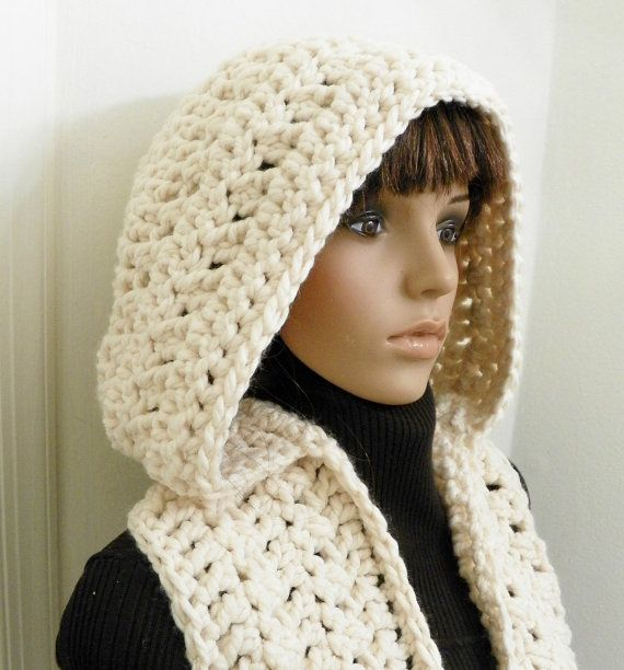 pin free hooded scarf patterns to knit and crochet on