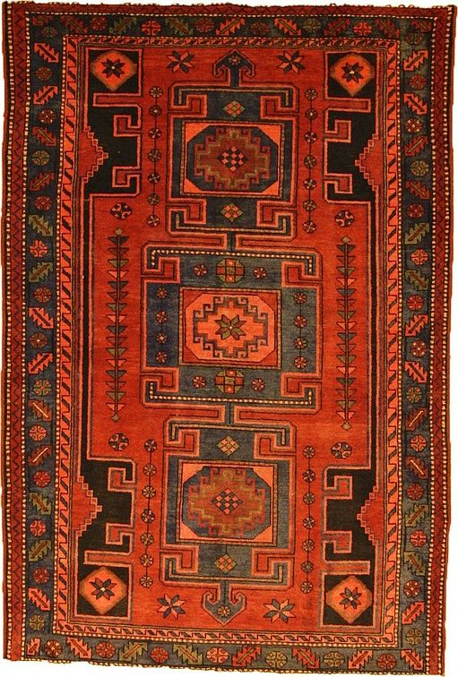Red Khamseh Area Rug | Ideas for the House | Pinterest