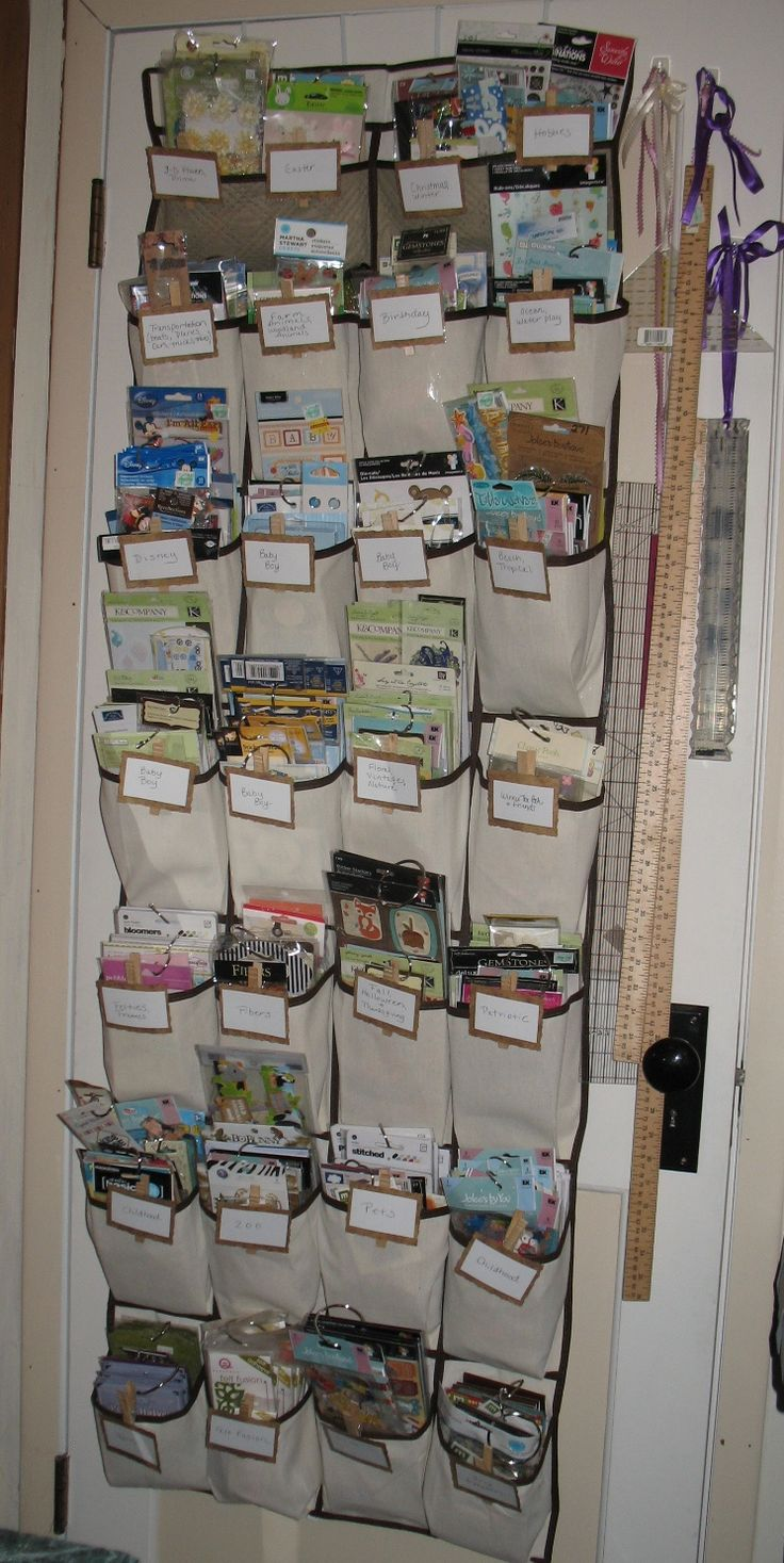 Stage 1 of my craft studio renovation - Embellishment Organizer. With