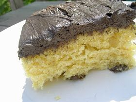 Vegan Thyme: Vegan Yellow Cake with Dark Chocolate Frosting (Happy Earth Day & The Ultimate Lawn Mower)