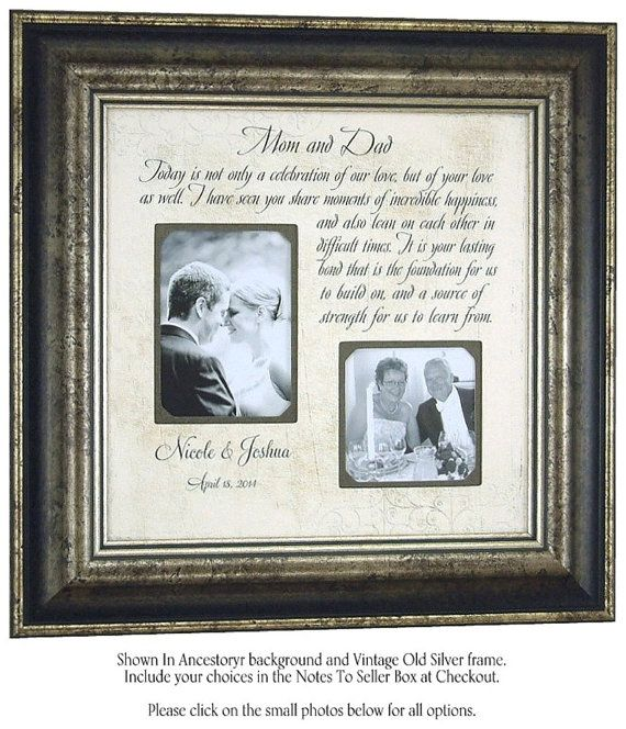 Personalized Wedding Picture Frames For Parents : Personalized Picture Frame Wedding Gift For parents bridal shower ...