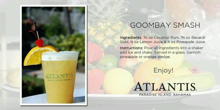 Goombay Smash | Atlantis Cocktails | Pinterest