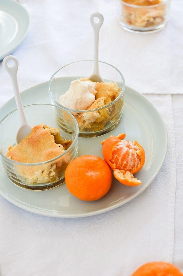 Apple Pandowdy with Tangerine Cream | sweet side | Pinterest