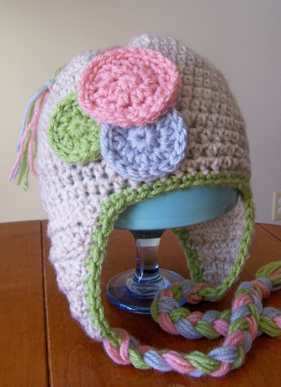Crochet Earflap Hat : Crochet Earflap Hat crochet and knit Pinterest