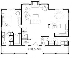 Cottage Floor Plans With Loft Ranch Pinterest