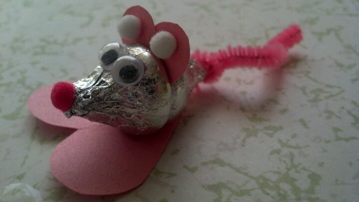 valentine hershey kiss mouse