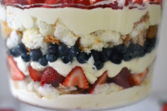 Berry Trifle with Homemade Whipped Cream-- Fourth of July Cooking ...