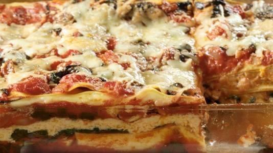 Squash and Greens Winter Lasagna. A vegetable lasagna. Among the ...