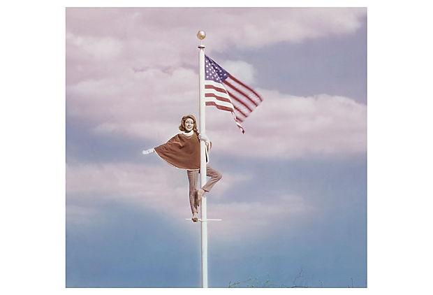 1 flag pole
