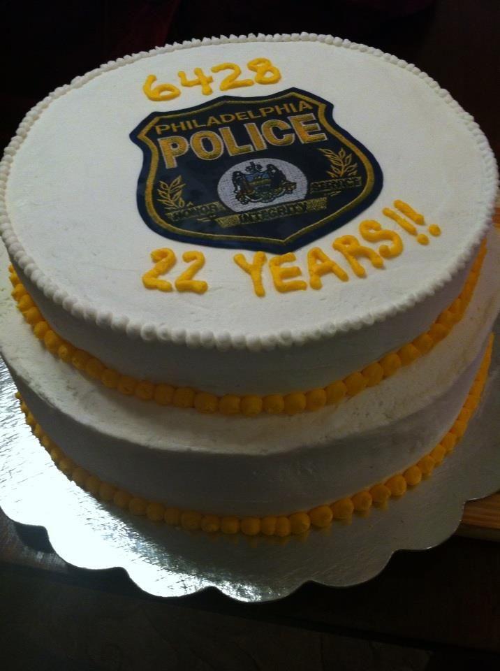 Police Retirement Cake Images : Philadelphia police retirement cake..love my husband ...