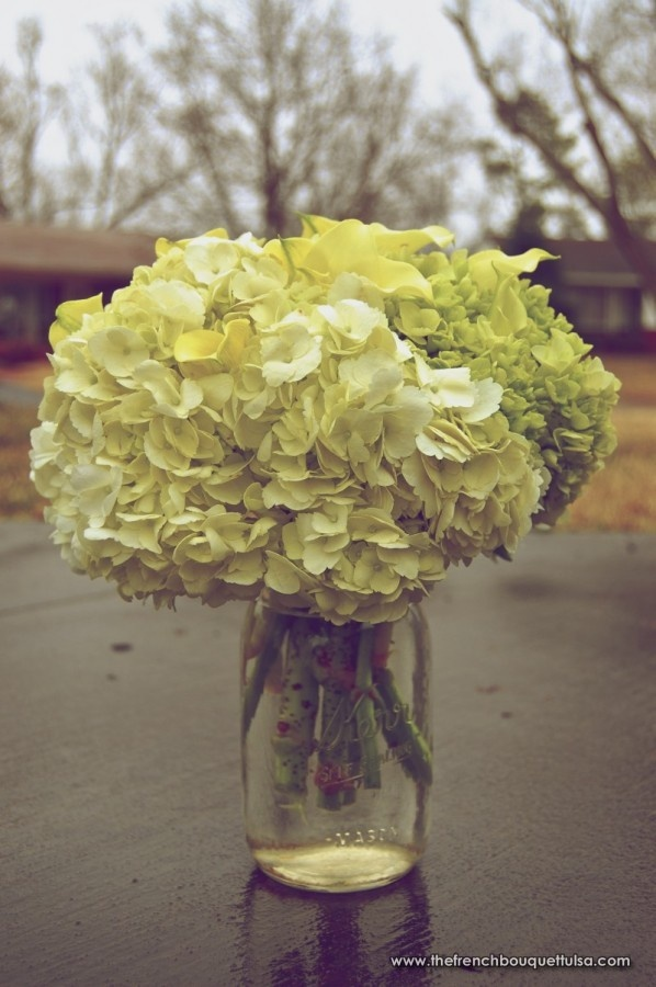 Hydrangea mason jar florist decor ideas pinterest