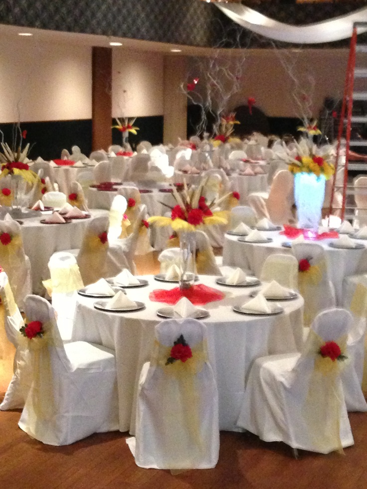 Red and yellow centerpiece centerpieces pinterest