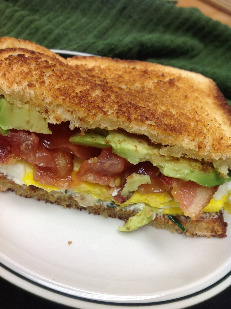 Fried Egg and Avocado Sandwich | Breakfast | Pinterest