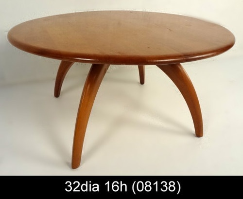 Mid Century Modern Heywood Wakefield Lazy Susan Coffee Table 08138 R
