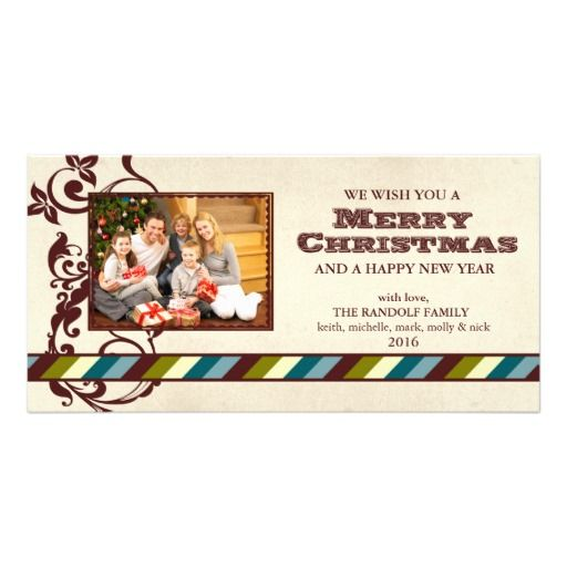 Country ranch christmas photo card