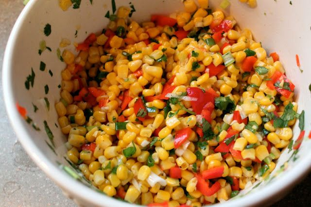 Spicy Grilled Shrimp with Corn Relish - The Cottage Mama