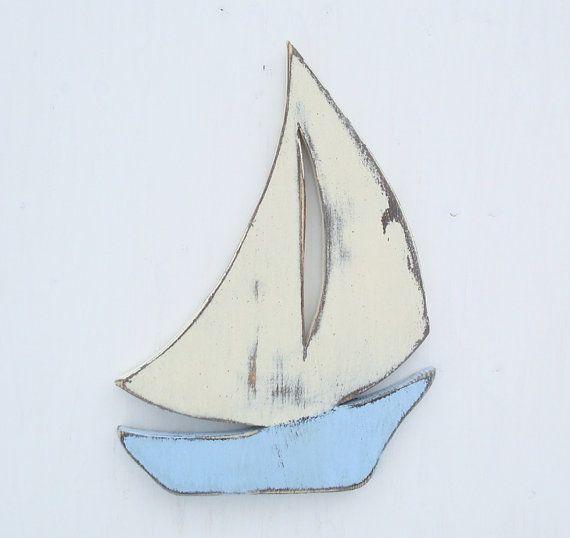 Wood Sailboat Wall Decor : Sailboat nautical wood wall art
