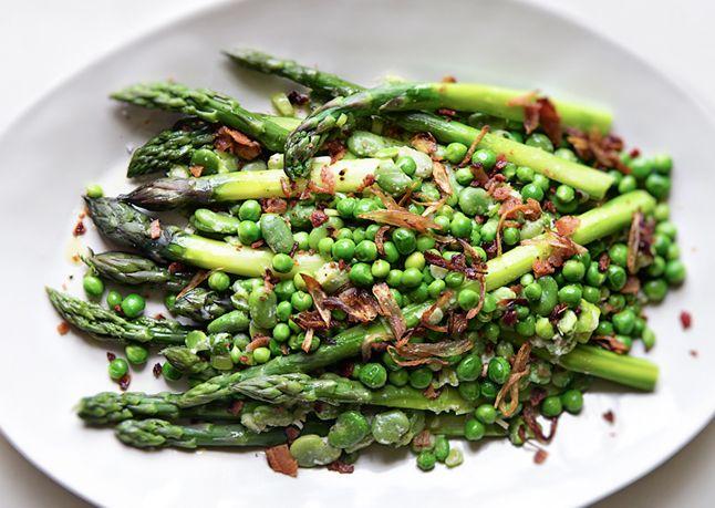 Pea, Asparagus, and Fava Bean Salad - Bon Appétit