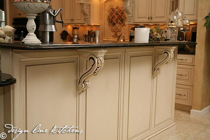 corbels in the kitchen kitchen ideas