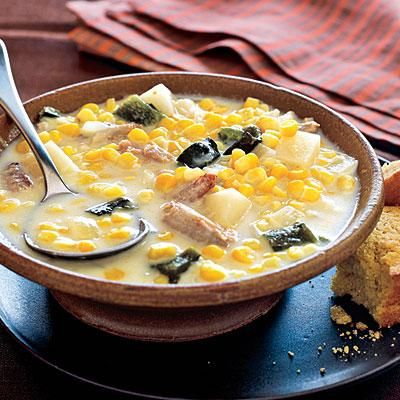 ... -Rated Budget Recipe: Spicy Corn and Crab Chowder | Cookinglight.com
