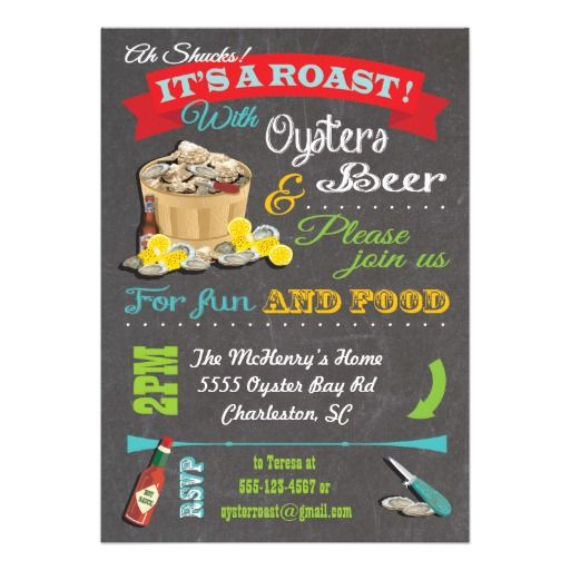Oyster Roast Invitations was awesome invitation template