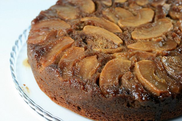 Gingerbread Apple Upside-down Cake Recipe — Dishmaps