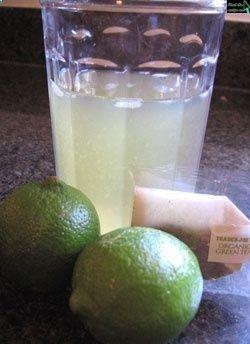 Iced Green Tea Lime Cooler   Drinks   Pinterest