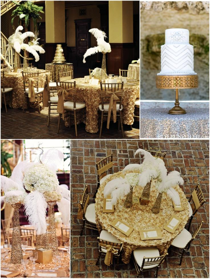 2015 Wedding Trends - Art Deco Wedding Decoration