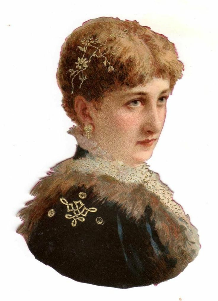 CA 1880s Beautiful Woman with Real Gilt Jewelery Die Cut Litho Victorian Scrap | eBay