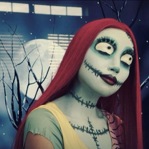 Sally the nightmare before christmas art make up pinterest - Maquillage de halloween ...