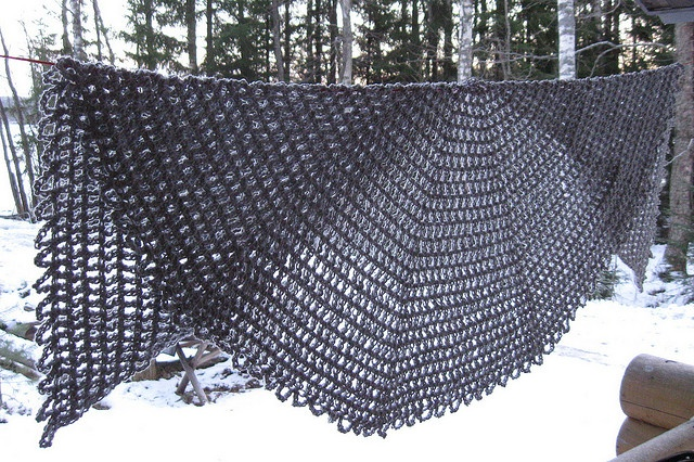 Crochet Pattern Half Circle Shawl : shawl-half open circle Crochet Shawls and Scarves, Cowls ...