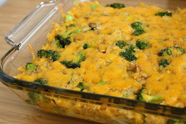 The Garden Grazer: Cheesy Broccoli Quinoa Casserole