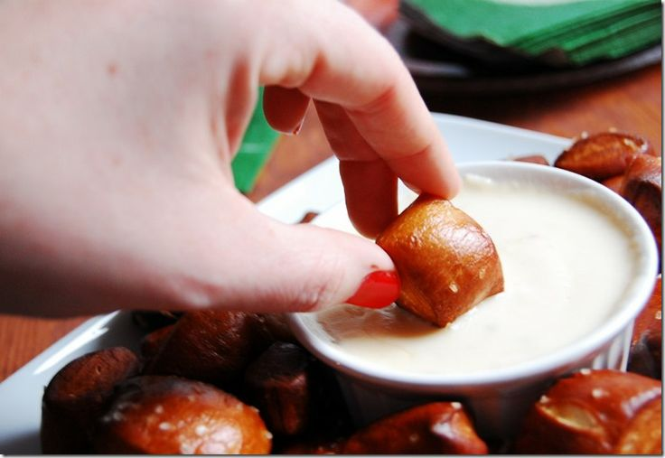 Soft Pretzel Bites w/ pepper jack dipping sauce
