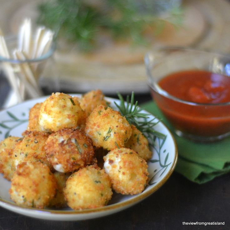 Fried Rosemary Mozzarella Balls from @Susan Caron Moran {the view from ...