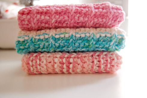 Knit Washcloth Operation Christmas Child Pinterest
