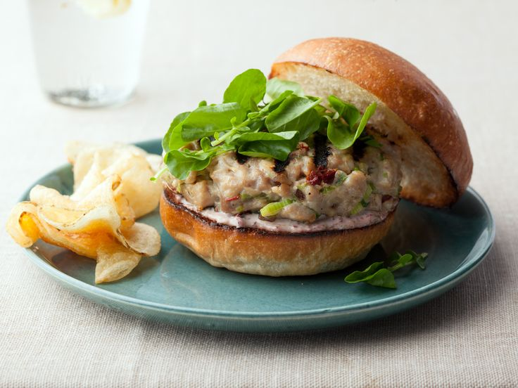tuna burgers with tapenade aioli good with shrimp added salmon works ...